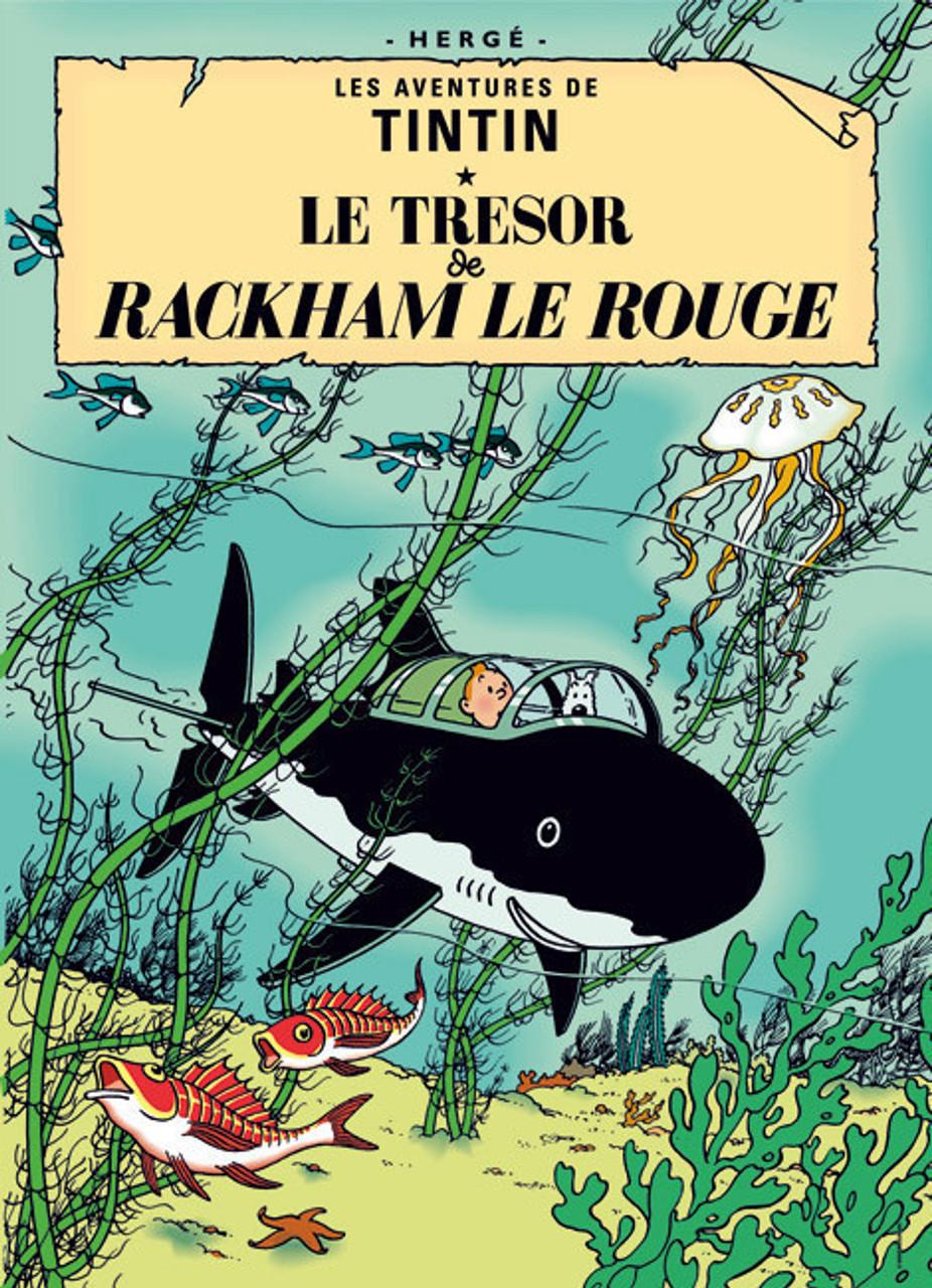 TINTIN POSTER 11 LE TRESOR DE RACKHAM LE ROUGE