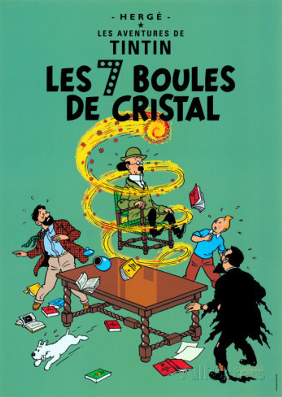 TINTIN POSTER 12 LES SEPT BOULES DE CRISTAL