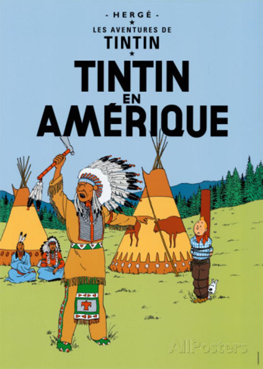 TINTIN POSTER 02 EN AMERIQUE