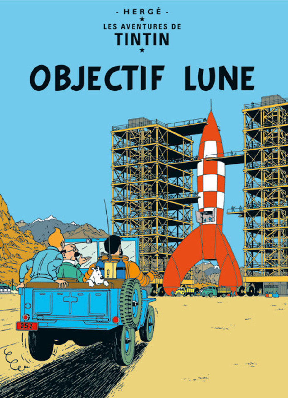 TINTIN POSTER 15 OBJECTIF LUNE