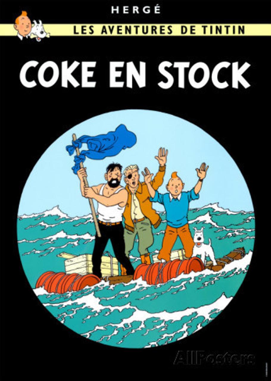 TINTIN POSTER 18 COKE EN STOCK
