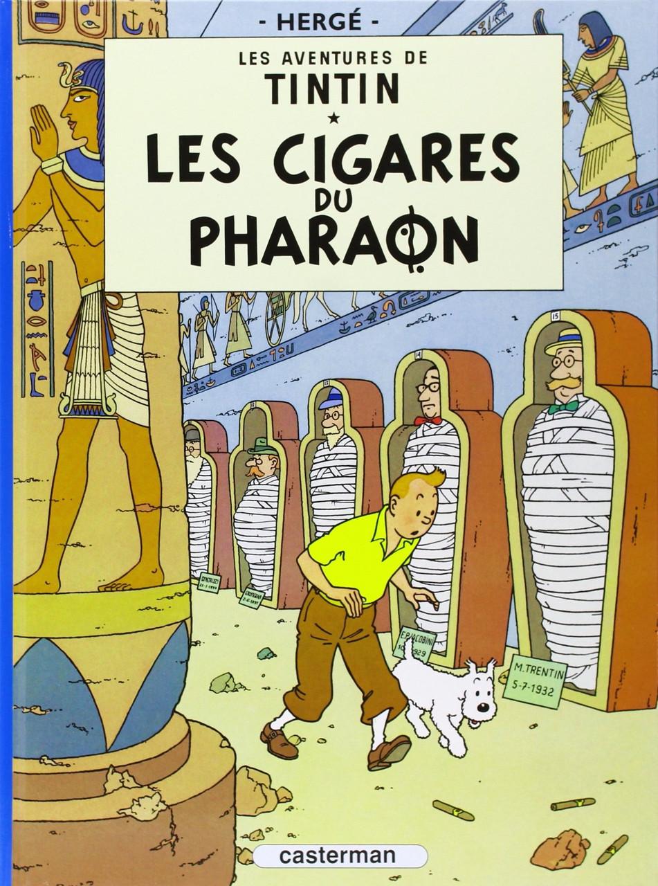 TINTIN FRENCH HC LES CIGARES DU PHARAON