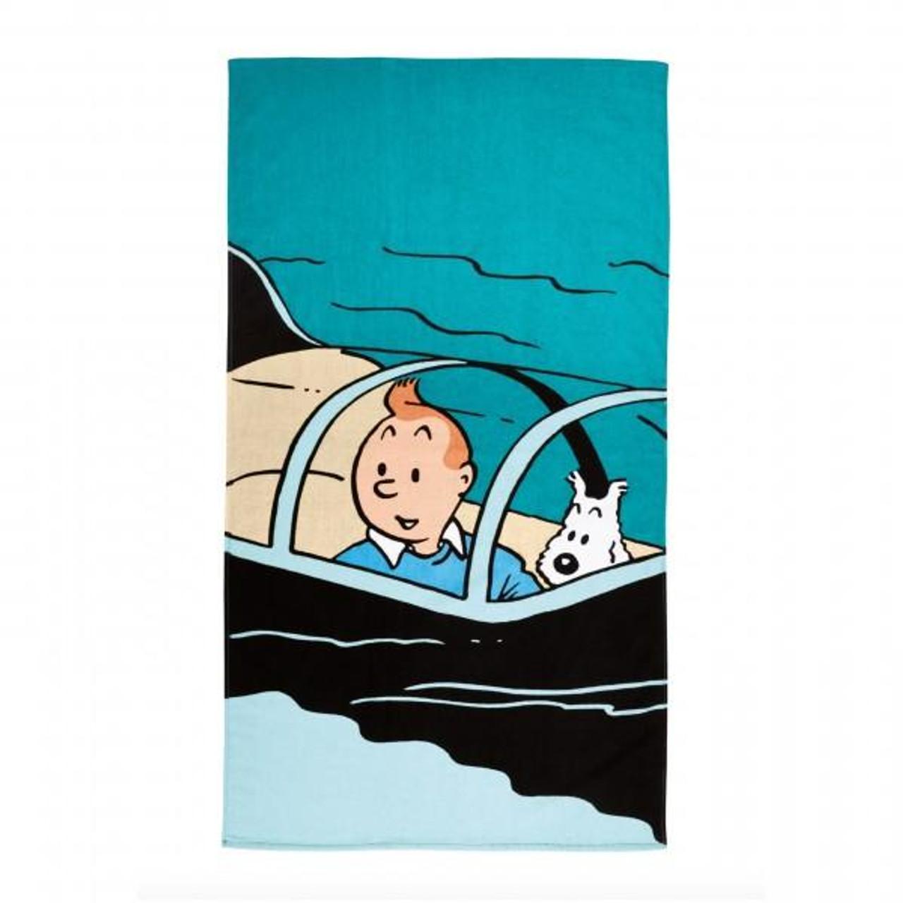 TINTIN BEACH TOWEL SUBMARINE 90X160 CM