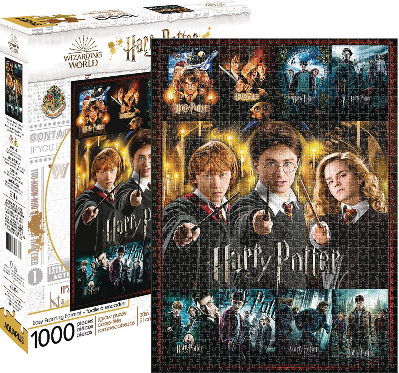 HARRY POTTER MOVIE POSTERS 1000PC PUZZLE