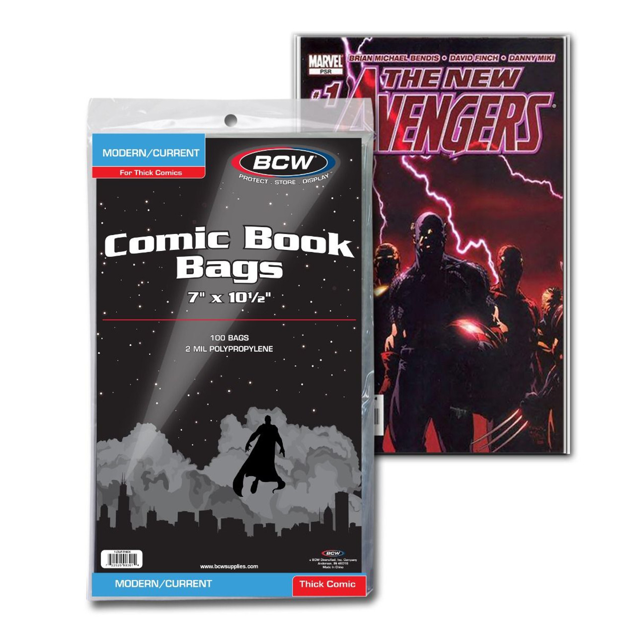 BCW CURRENT COMICS BAGS THICK 100 PACK