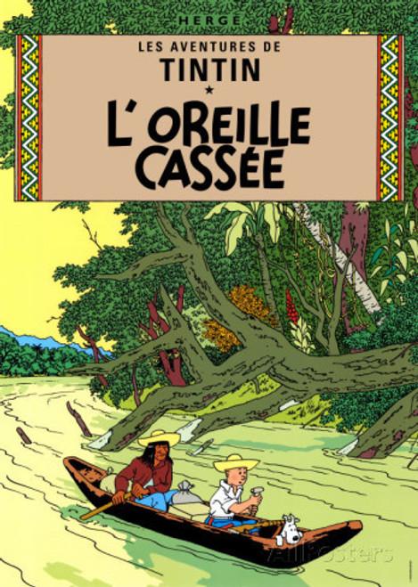 TINTIN POSTER 05 L'OREILLE CASSEE