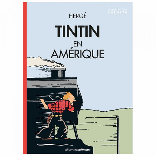 TINTIN POSTER AMERICA COLOUR