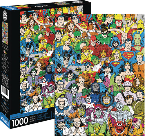 DC COMICS RETRO CAST 1000PC PUZZLE