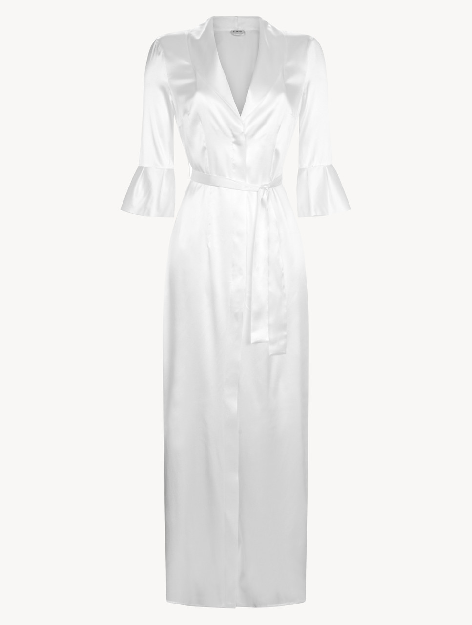 Off White Long Silk Belted Robe La Perla Uk