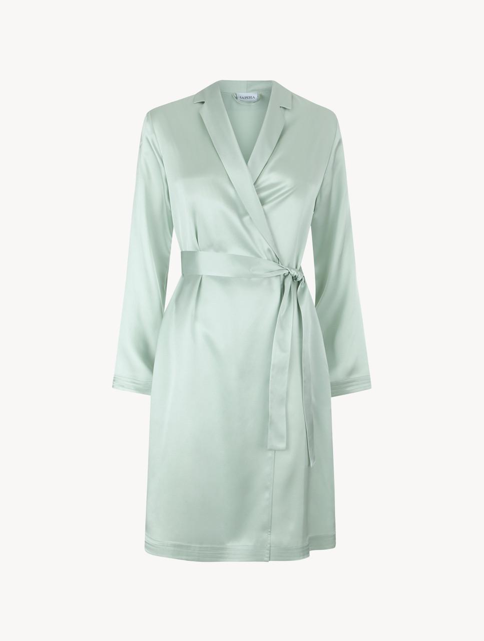 Mint Green Silk Short Robe La Perla Uk