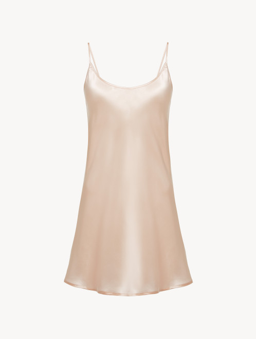 Slip Dress in blush pink silk