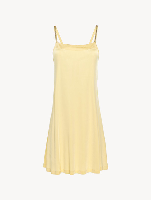 Viscose mini-dress in yellow