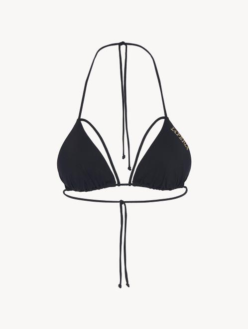 Triangle bikini top in black lycra