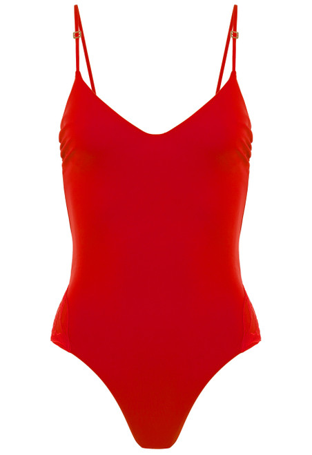Underwired swimsuit in red