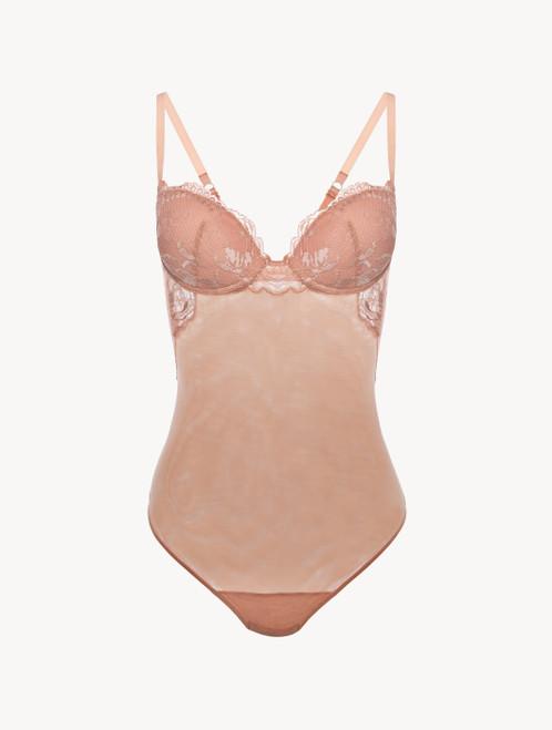 Powder pink lace bodysuit