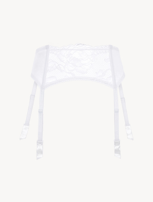White lace suspender belt
