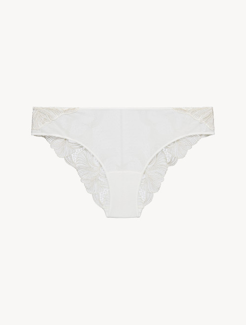 Off-white embroidered tulle medium briefs