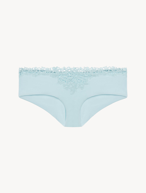 Light blue hipster briefs with macramé