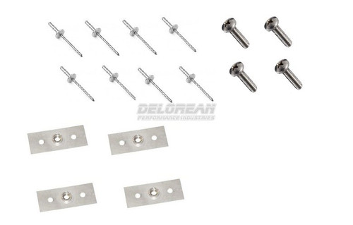 SUNVISOR RETAINER BRACKETS (KIT) STAINLESS