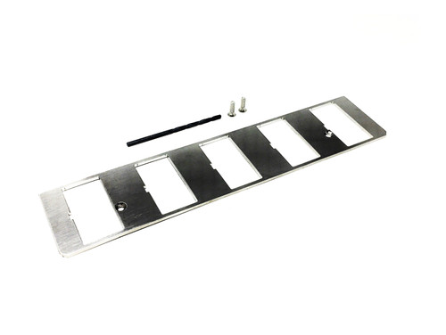 1. CONSOLE SWITCH ALIGNMENT PLATE STAINLESS