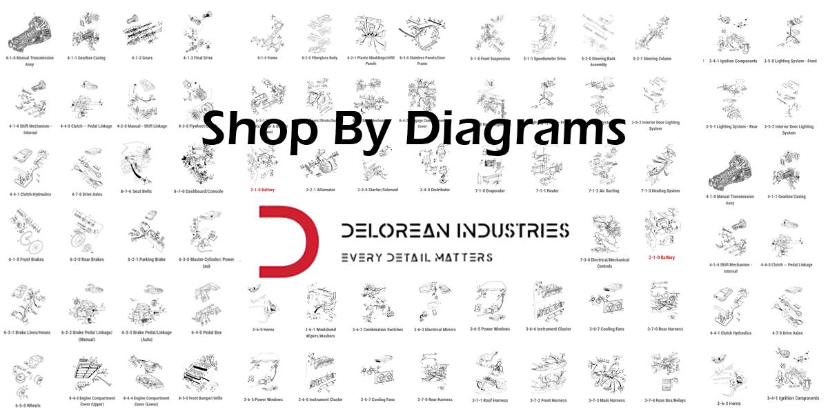 delorean wiring diagrams delorean industries parts  service  performance  restoration and  delorean industries parts  service
