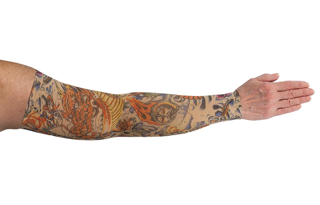Lotus Dragon Tattoo Arm Sleeve