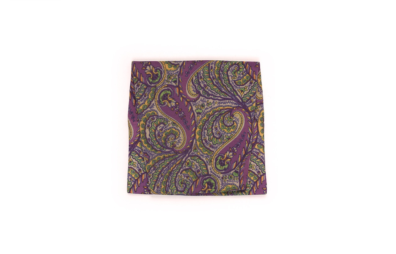 Purple Paisley Pattern Swatch