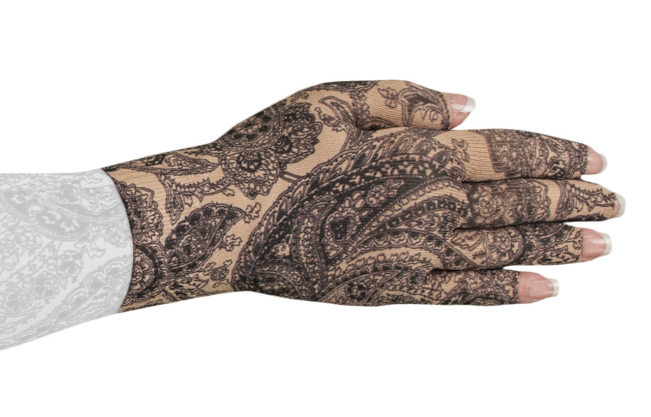2nd Black Paisley Glove