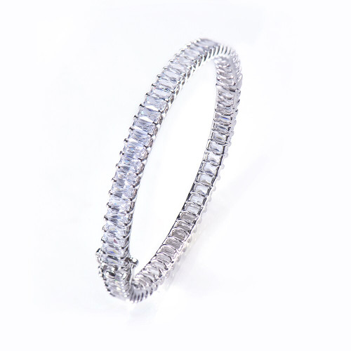 Skinny Baguette Faux Diamond Bangle