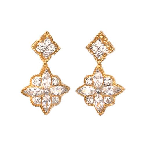 Flower  Dangle Vermeil Earrings