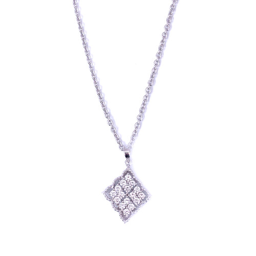 Diamond Shape CZ  Pendant Necklace