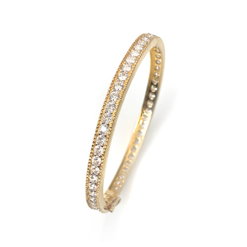 Infinity Round CZ Vermeil Bangle