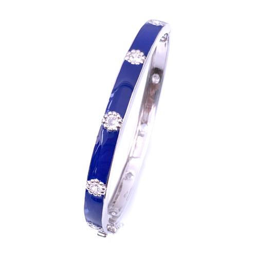 blue enamel/platinum