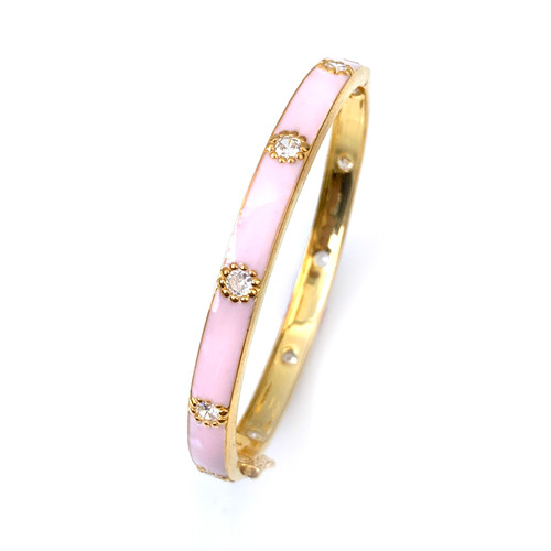 Skinny Pink Enamel Bangle