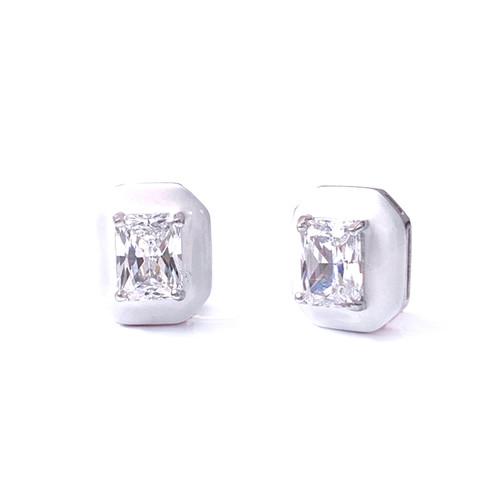 White Enamel / Platinum