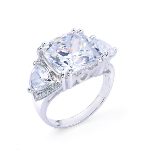 6ct Cushion Cut Faux Diamond Ring