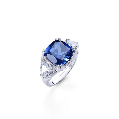 6ct Cushion Cut Lab Sapphire Ring