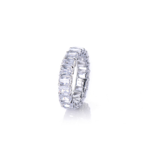 Octagon Faux Diamond Infinity Band Ring