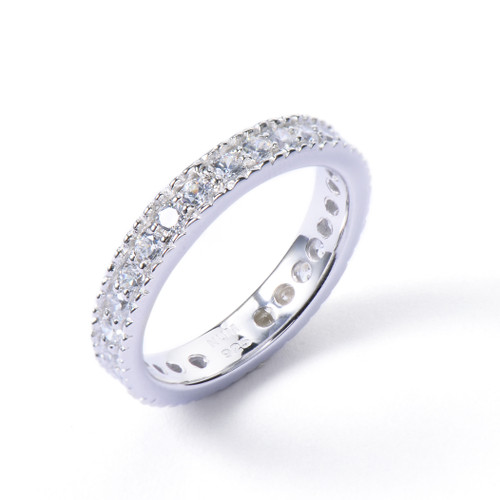Faux Diamond CZ Wedding Band Ring