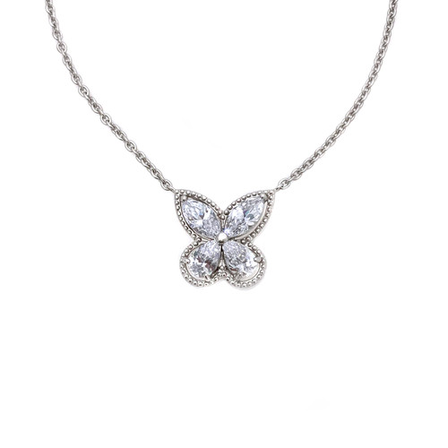 Marquis Butterfly Pendant Necklace