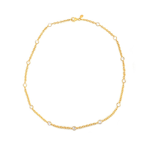 CZ by the Yard Vermeil Necklace
