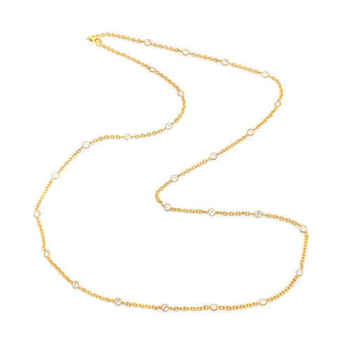 CZ by the Yard Vermeil Long Necklace