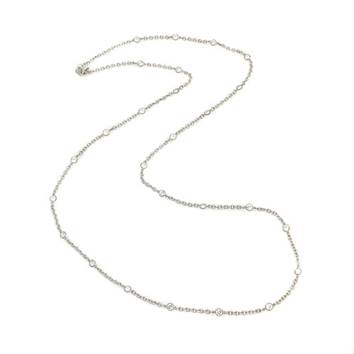 CZ by the Yard Long Necklace