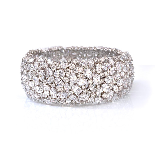 Encrusted Faux Diamond Bangle Bracelet