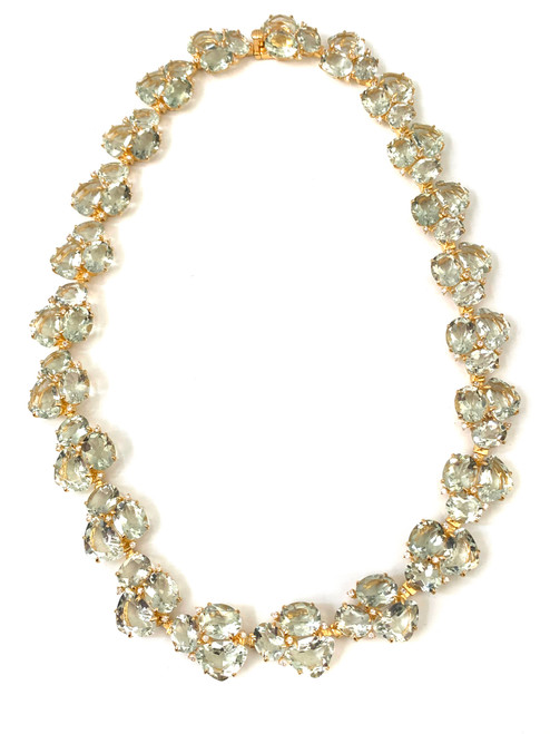 Fancy-cut Green Amethyst Choker Necklace
