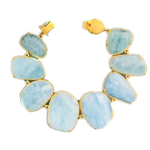 Fancy-cut Aquamarine Bracelet