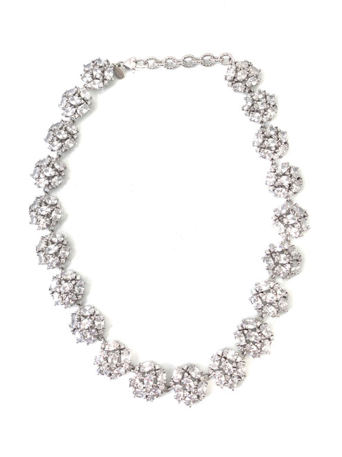 Clusture Faux Diamond Choker Necklace