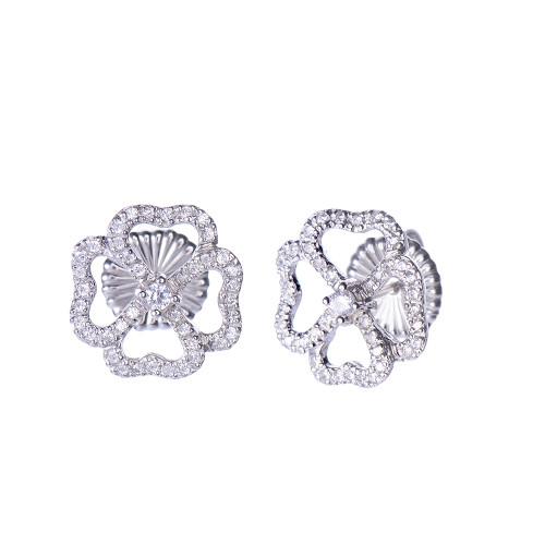4 Petal Flower Stud Earrings