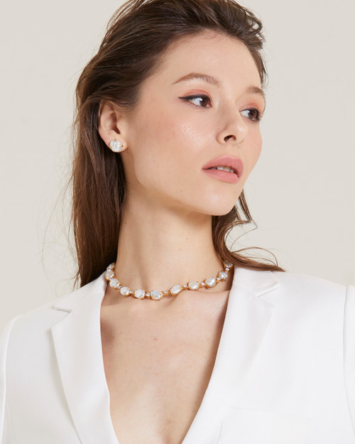 Cultured Keishi Pearl Vermeil Necklace