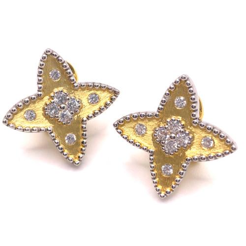 Clover-pattern Star-shape Vermeil Earrings
